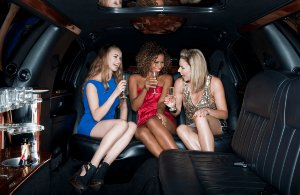 drink and party in limo